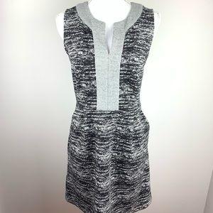 Anthropologie Tabitha Black & Gray Dress Size 4
